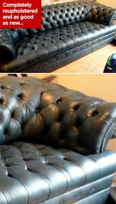 chesterfield sofa repair reupholstery