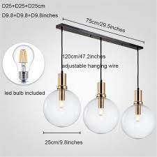 Us 3999 Kunst Designer Moderne Led Anhänger Licht Schwarz Gold Glas Küche Esszimmer Hängen Lampe Led Bar Restaurant Home Anhänger Lichter In