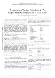 Peb Structure Design Procedure Pdf Comparison Of Design Procedures For Pre Engineering
