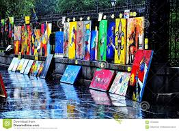 jackson square art in new orleans la stock photography