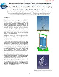 Vawt Blade Design Software Design And Analysis Of Vertical Axis Wind Turbine Blades For