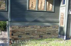 faux stone siding outdoor. stone below siding faux outdoor