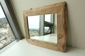Custom Made Bunkhouse Barnwood Mirror With Nailhead Tacks-Reclaimed Wood -  Its these little effects that make all the difference. | Picture Frames ...