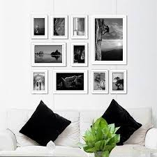 white framed wall art uk