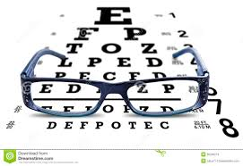 Dot Eye Chart Eye Chart Glasses Spectacles Test Vision Stock Photo Image