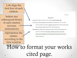 The Works Cited Page In Text Citations Ppt Download