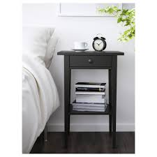 IKEA HEMNES bedside table Made of solid wood, which is a hardwearing and  warm natural