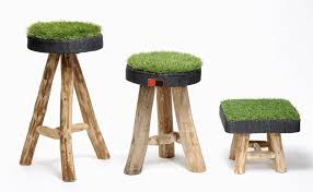 But with these Green Grass stools by Marron Rouge, you can not only see the  refreshing green grass inside your house but ...