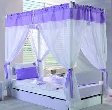 kids-room-canopy-bed-white-and-purple-decor - Decor Craze : Decor Craze