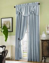 country style checd curtains blue curtains