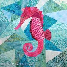Free Foundation Paper Piecing Patterns | Paper piecing patterns ... & A Quilt and A Prayer: May is for Makers - Finally! Teresa's paper pieced  Seahorse quilt block - beautiful and scrappy! Adamdwight.com
