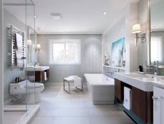 contemporary bathroom countertop materials