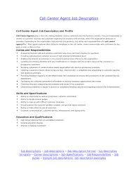 Call Center Job Duties For Resume Nice Call Center Agent Description Resume with Call Center Job 1