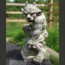 guardian gargoyle hand cast stone garden ornament statue