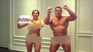 John Cena and Nikki Bella Celebrates Nude 500000 subscribers YouTube