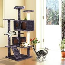 indoor cat tree tower scratching post activity centre cats house with bed gray houses needing homes indoor cat houses outdoor