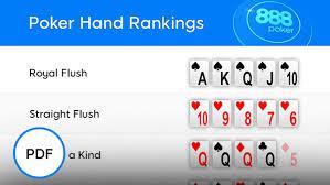 Poker Winning Hands Chart Poker Hands Rankings 888poker