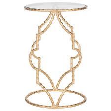 safavieh ira antique gold leaf end table