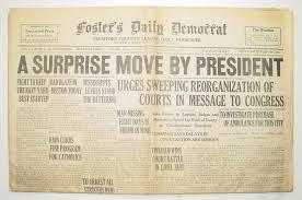 president roosevelt s court packing scheme newspaper