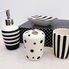 Bathroom Accessories Black And White Dodomiinfo