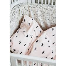 ferm living kids rabbit rose baby bedding with rabbit print