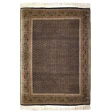 mir traditional tan black green wool rug 5272