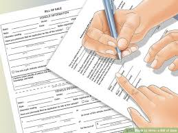 make a bill of sale how to write a bill of sale with pictures wikihow