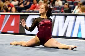 floor gymnastics splits. Wonderful Gymnastics University Of Denver Gymnast Maggie Laughlin Smiles While Holding The Splits  During Her Floor Routine Photo Taken On March 14 2015 At  In Floor Gymnastics Splits L