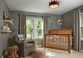 boy nursery furniture. Gray Boy\u0027s Nursery Features Walls Painted Lined With A Caddy Corner Crib By Restoration Hardware Baby Boy Furniture I