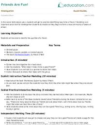 Kindergarten Social Studies Lesson Plans Education Com