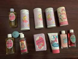 *FIRM* Tom Fields Vintage Tinkerbell Cologne Talc Soap Atomizer Lotion Bub  Bath