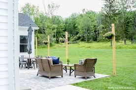 diy paver patio weekend summer