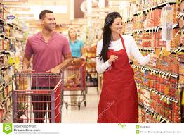 man in grocery aisle of supermarket s assistant stock man in grocery aisle of supermarket s assistant