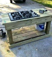 imposing outdoor camping kitchen with sink