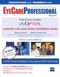 Hoya Array Centration Chart Eyecare Professional Magazine November 2009 Issue By Ecp
