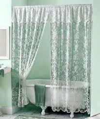white lace shower curtain. White ElegantRose Lace Shower Curtain Valance Victorian Scalloped