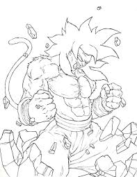 Small Picture ball z coloring pages goku super saiyan 4
