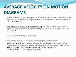 average velocity on motion diagrams