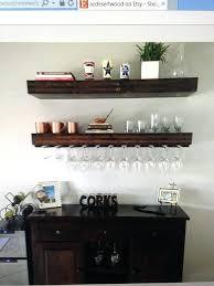 floating wine glass shelves floating shelf wood wood floating shelves floating shelf wine glass holder