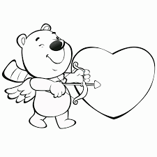 Hello kitty coloring pages of sand castle. Printable Valentine Coloring Page Novocom Top