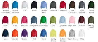 Hoodie Colour Chart Heavy Blend Adult Pullover Hooded Top In 28 Colours Gd 057