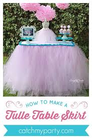 how to make a tulle table skirt