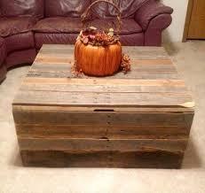 diy pallet coffee table storage trunk