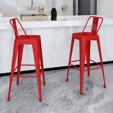 Tolix counter stools Replica 2x Replica Tolix Square Bar Stool Chairs In Red Buy Outdoor Bar Sets Stools breakfastbarstools Pinterest 2x Replica Tolix Square Bar Stool Chairs In Red Buy Outdoor Bar