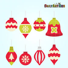 Simple Christmas Ornaments Clip Art Set Daily Art Hub Free Clip