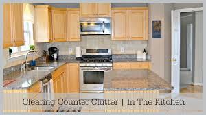 kitchen countertop organization in the kitchen