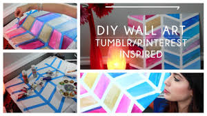 diy tutorial wall art room decorations tumblr pinterest