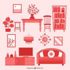 creative furniture icons set flat design. house furniture flat icons pack free vector creative set design e