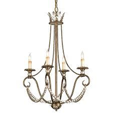 paulina vintage inspired crystal swag 4 light chandelier kathy kuo home