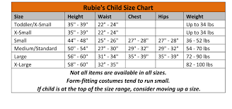 A Wish Come True Size Chart Size Charts
